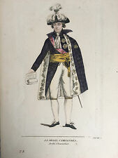 Gravure Portrait J.J Regis , Cambacérès Archi-Chancelier T.8