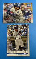 2019 Topps Update Fernando Tatis Jr RC #US56 + 150 Years Greatest Players RC 🔥