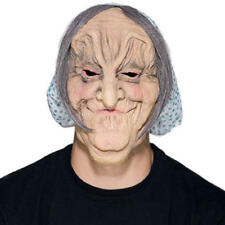 OLD WOMAN MASK MATILDA RUBBER MASK GRAY HAIR HALLOWEEN SENIOR CITIZEN OLD LADY