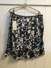 NOA NOA Pearl eye grey floral above knee skirt, viscose lined XS