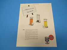 1948 Gulf Gulfpride Is The World's Finest Motor Oil Alchlor Color Print Ad PA010