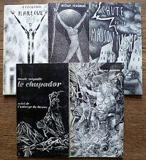 5 volumes illustrés coll. OUROBOROS Rimbaud Poe Marlowe Seignolle Coleridge
