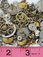 20+ Grams Vintage Watch Parts Lot DIY Steampunk Nail Art Tiny Gears Wheels Lever