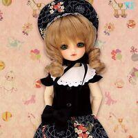 Volks HTDP Nagoya 5 Super Dollfie Chibi Bunka Doll Dress Black YoSD 1/6 BJD