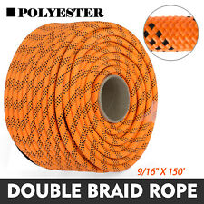 9/16 Braid Rope Rock Polyester Rope Rigging Rope 150FT