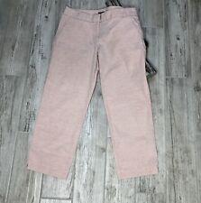 J Crew Light Pink Cocktail Capri City Fit Cotton Pants Size 4