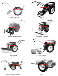 Sears Roebuck David Bradley Super Power Garden Tractor Owner's Manual 917.57560