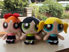 "Powerpuff Girls Doll The 1999 Cartoon Network 9"" Plush Doll Toy Set of 3"