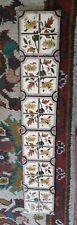 Six Antique Victorian Fireplace Tiles