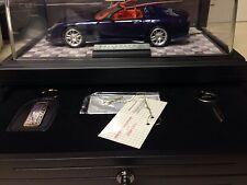 1/24 Franklin Mint Signed Blue Corvette C12 Callaway Roadster # 978 B20ZK67