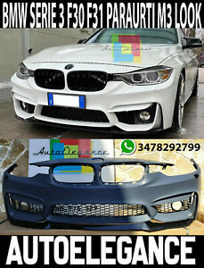 BMW SERIE 3 F30 F31 2011-2015 PARAURTI ANTERIORE COMPLETO M3 LOOK IN ABS