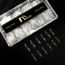 500pcs Gel Nails Tips Stiletto Shape Sturdy Full cover Nails 12 Sizes With Box
