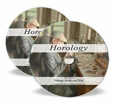 Rare Antique Horology Books on DVD Watch History Clock Repair Maker Pocket 284