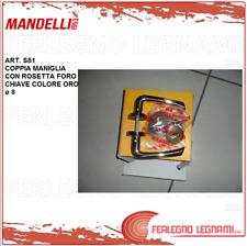 MANDELLI MANIGLIA CON ROSETTA FORO CHIAVE COLORE ORO ø 8 ART. S81
