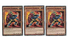 3x Gauntlet Warrior bp03-en070, COMÚN, menta, inglés, 1st, playset