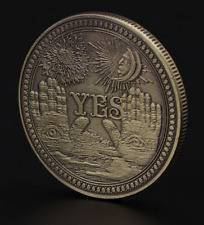 Yes/No Ouija Brass Gothic Prediction Decision Coin - Angel of Death