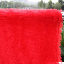 Red PV plush velvet fabric, faux fur fabric. Photography backdrops, BTY
