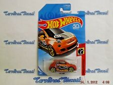 Hot Wheels 2018 Fiat 500 Daredevils Race Car Rare New 50 Years Satin Orange F1