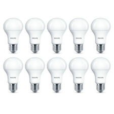 10x Philips LED Frosted E27 75w Warm White Edison Screw Light Bulbs Lamp 1055Lm