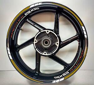 Aprilia Racing Gold & REFLECTIVE White, Wheel Rims 025/055
