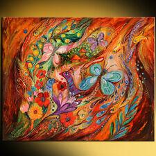 Butterflies on Wind: contemporary judaica art print by Elena Kotliarker