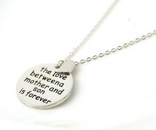 "Hot Sale ""The Love Between A Mother And Son Is Forever"" Necklace&Pendant Gift"