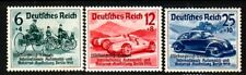 GERMANY Sc B141-3 NH ISSUE OF 1939 - CAR RACING W/OVERPRINT