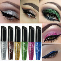 PHOERA 12 Farben Metallic Glitter Pailletten Liquid Eyeliner Augen Make-up