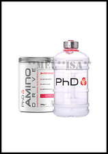 PhD Nutrition Amino Drive 300g + 2.2LTR WATER JUG Cafe Latte Amino/Recovery