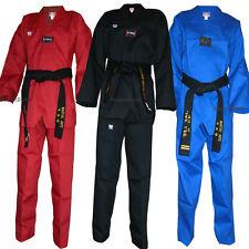 New Taekwondo Color Uniform set Corduroy V-Neck TKD Dobok Set for Kids & Adults