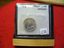 1963 CANADA SILVER DIME  10 CENTS TOP GRADE  63A  PROOFLIKE  SEALED  SEE PHOTOS