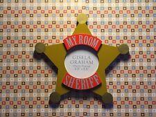 Sheriff Badge Photo Frame Star Shape My Room Photo Door Plaque by Gisela Graham