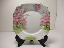"""ROYAL ALBERT CHINA PLATE """"BLOSSOM TIME """"  6 3/4 """" SQUARE PRE OWN"""