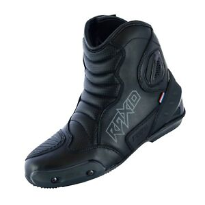 REAL LEATHER HIGH TECH MENS MOTORCYCLE MOTORBIKE RACING SHORT SPORTS BOOTS RAXID