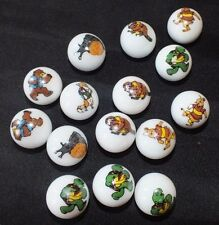 Lot of 15 Franklin the Turtle Marbles Character Canada TV Snail Beaver Rabbit