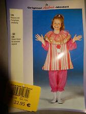 Kostüm Clown Bajazzo für Mädchen gestreift Gr. 104 - ca. 110