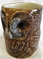 QUAIL CERAMIC TAWNY OWL DESK TIDY, PENCIL, PEN, BRUSH POT OR VASE - BIRD OF PREY