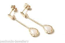 9ct Gold Opal Teardrop Earrings Made in UK Gift Boxed
