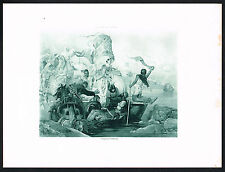 1890s Antique Death Frederick Barbarossa Crusade Art Photogravure Print