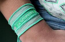 "Bracciale in seta WORD IT (YCIA) verde acqua ""DA SCOPRIRE""  Laura Pausini"