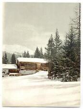 Scène hivernale avec structure de rondins Grisons A4 papier photo
