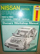 NISSAN STANZA 1982-83' HAYNES WORKSHOP MANUAL V-g-c