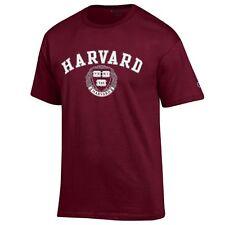Harvard Crimson NCAA College T shirt made by Champion, Maroon XXL