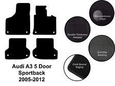 Audi A3&S3 Sportback 5 Door (2005 to 2012) Tailored Black Carpet Car Floor Mats
