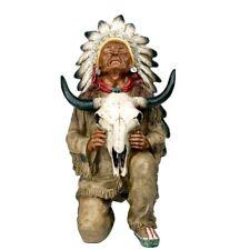 Indianer Figur Häuptling Büffelschädel Western Winnetou Apachen Sammlerfigur I70