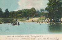 ROCHESTER NY – Seneca Park The Swimming Pool Rotograph Postcard – udb – 1907