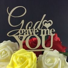 God Gave Me You Cake Topper, Wedding Cake Decorations, Bridal Shower, USA