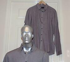 """COPPIA di controllo accanto a maniche lunghe camicie di cotone, colletto 17"""""""