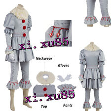 Horror Pennywise Cosplay Costume Halloween Clothes Custom Made