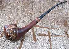 TOBACCO SMOKING PIPE FOR WOMEN SLIM DESIGN AWESOME LONG INLAID WOODEN PEAR